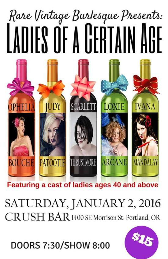 Rare Vintage Burlesque Presents: Ladies of a Certain Age