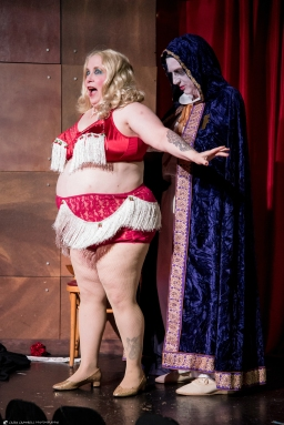 Charm & Glamour Productions presents MSTease3K, burlesque inspired by Mystery Science Theater 3000 at Crush Bar in Portland on Aug. 17, 2018. (photo by Casey Campbell Photography)